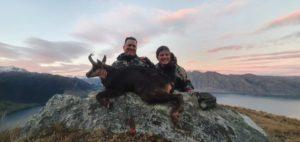 Chloe and David hunting at Glen Dene Station