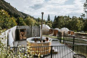 Hot Tub at Cross Hill Lodge